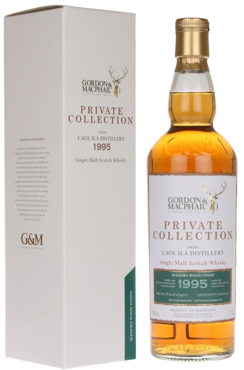 private collection caol ila 1995 madeira wood finish the whisky shop dufftown. Black Bedroom Furniture Sets. Home Design Ideas
