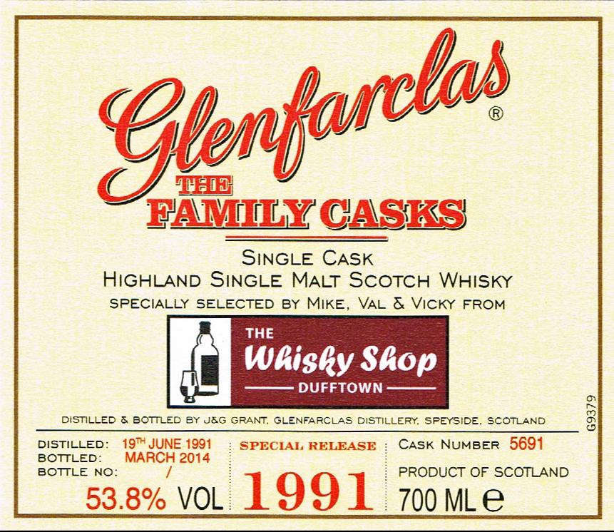 WSD Glenfarclas 1991 Front Label
