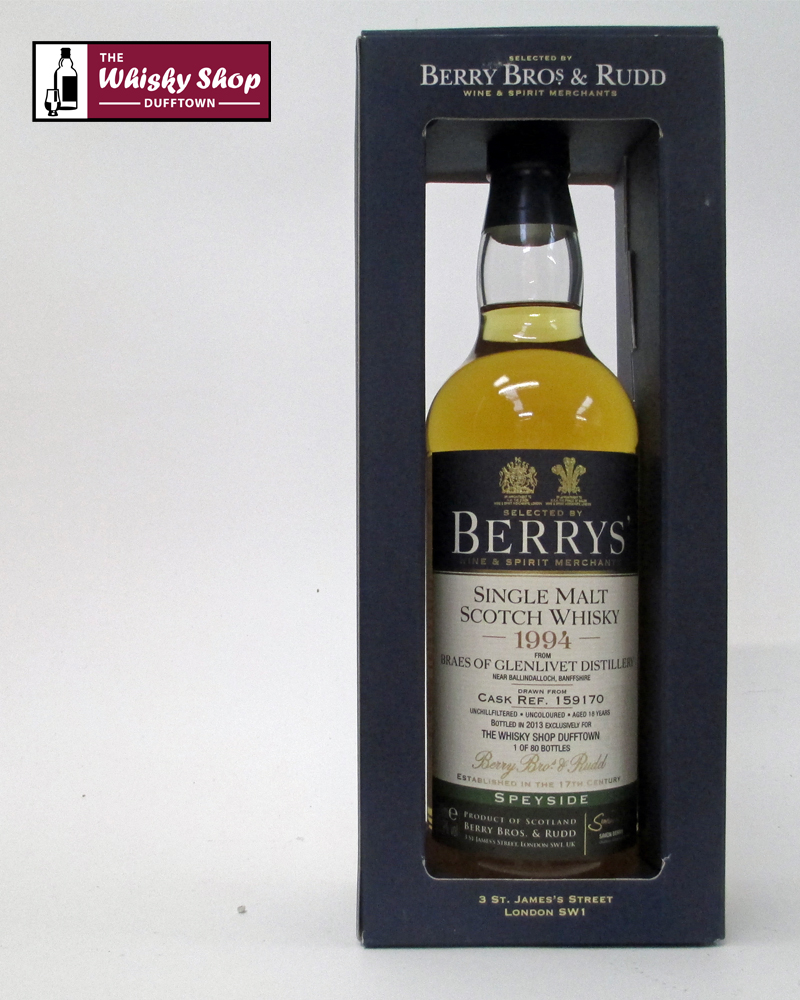 8638bd4a5ed The Whisky Shop Dufftown Braes of Glenlivet 18 Years Old from Berry ...