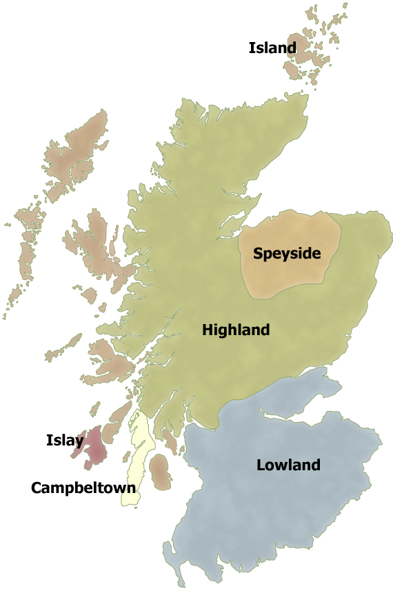 Scotland's Whisky Regions